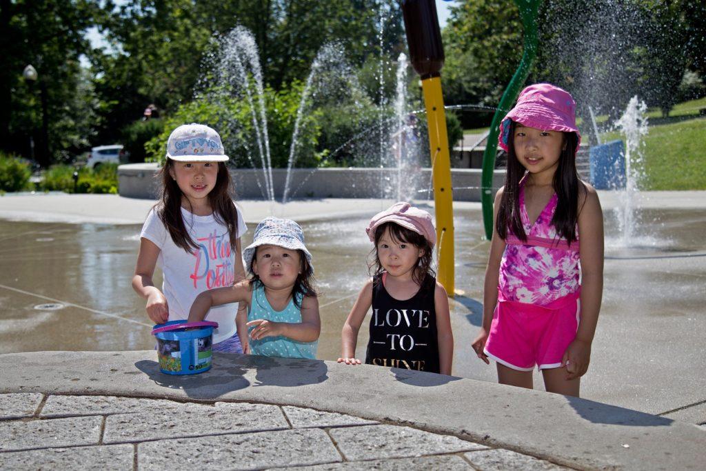 Kids at Mackin Spray Park