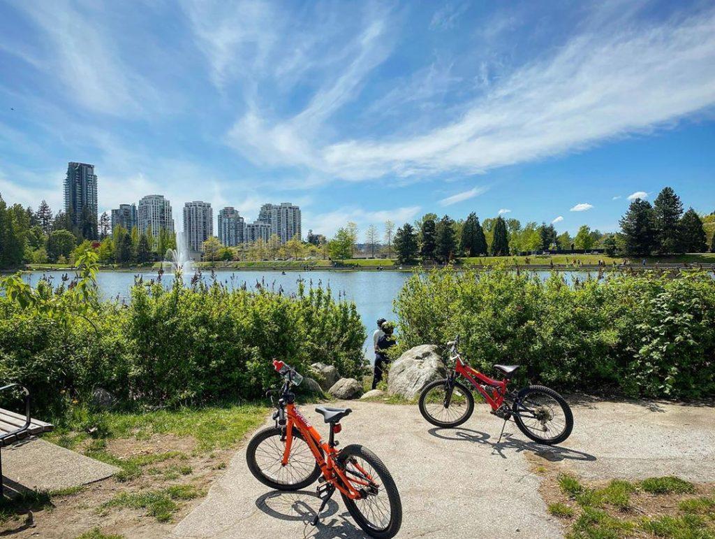 Biking at Town Centre Park
