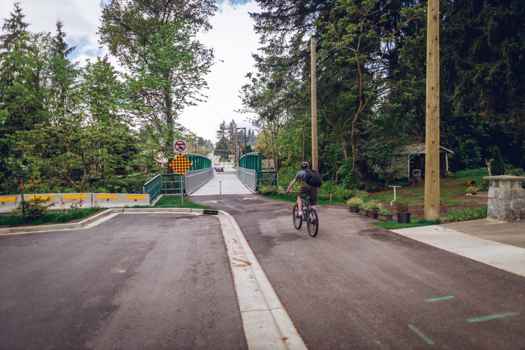 Biking the King Albert Greenway